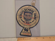 Rare 1940s Our Lady Of Solace Coney Island Steeplechase Park String Tag Ticket
