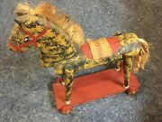 Primitive Folk Art By Nancy G. Wilson - Reclaimed Wood/materials Pull-toy Horse