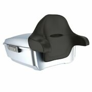 Barracuda Silver Denim King Tour Pack Black Latch And Hinges For 1997-2020 Harley