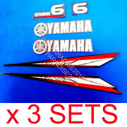 3 Sets Yamaha 6hp 2 Stroke Outboard Motor Decals/sticker Kit T6