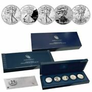 2011 5-coin Proof American Silver Eagle Set In Ogp.