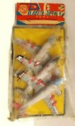 San Toy Tin Lithographed Friction 3 Plane Set In Original Packaging