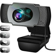 1080p Webcam For Video Calling With Microphone Andusb 3d Denoising Andautomatic Gain