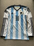 Argentina Home Jersey Lionel Messi Long Sleeve Bnwt Size Small 2013-2014
