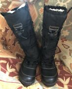 Lands' End Black Boots Shoes With Sherpa Lining Women's 8 B, 38.5