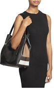 Maidstone Women's Pebble Leather With Check Print Shoulder Bag