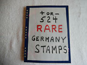 524 Rare Vintage Antique Germany Stamp Collection Album 1888 And Up Stampbook2b