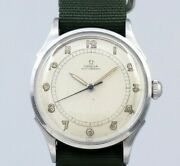 Omega Arabia Index 2438-1 Cal.28.10 Automatic Winding Vintage Watch 1940and039s