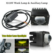 2andtimesled Motorcycle Car Truck Work And Auxiliary Lamp Square External Spotlight Lens