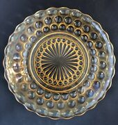 3 Anchor Hocking Glass - Iridescent Bubble Pattern - Bread And Butter Plates