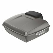 Billet Silver Chopped Tour Pack Trunk Luggage For Harley Davidson Touring 97-20
