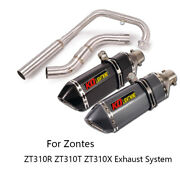 For Zontes Zt310r/t/x Motorcycle Exhaust System Header Pipe 51mm Muffler Escapes