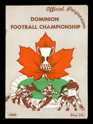 1949 Grey Cup Football Program Montreal Alouettes Calgary Stampeders Rare Insert