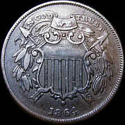 1864 Small Motto Two Cent Piece 2cp ---- Type Coin Nice L@@k ---- D669