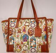 Nwt Disney Belle Beauty And The Beast Dooney And Bourke Shopper Tote Purse Bag 3