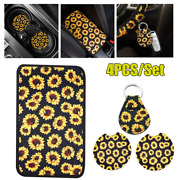 Universal Car Suv Pickup Center Console Armrest Pad Coaster Cover Key Chain Trim
