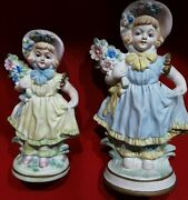Fancy Flower Ladies Figurine Figural Made In Occupied Japan Collectible Vintage