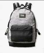 Victoria's Secret Pink Full Size Heather Gray Campus Backpack Nwt