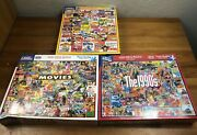 Lot Of 3 New Sealed White Mountain Puzzles 1000 Piece Each