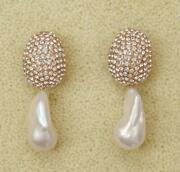 Celine Glitter Earrings Crystal And Pearl Baroque Fall '18 Phoebe Philo New Rare