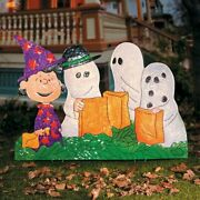 Peanuts Gang In Costumes Hammered Metal Outdoor Halloween Decor Charlie Brown