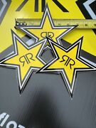 """3 7""""authentic Rockstar Energy Drink Stickers Decal Sign Logo Moto Racing"""