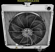 Champion 2 Row Aluminum Radiator And 16 Fan 67-70 Mustang Ford Cars 20 Wide Core