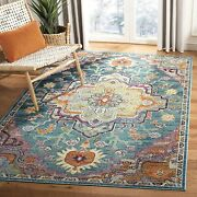 Safavieh Crystal Collection Crs501t Boho Chic Vintage Distressed Area Rug 5and039 X