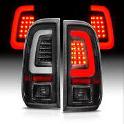 Fit 2008-2016 Ford F250 F350 F450 Sd Superduty Led Tube Black Tail Lights Lamps