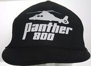 Vintage Eurocopter Panther 800 Us Army Helicopter Trucker Hat Black Snapback Cap