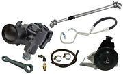 New 76-86 Jeep Cj Power Steering Gear Box Kit,with V8 Bracket,smog Pulley,201