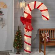 6and039 Giant Christmas Candy Cane Led Lights Holiday Outdoor Yard Porch Decoration