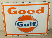 Good Gulf Oil Vintage Style Porcelain Signs Gas Pump Man Cave Station