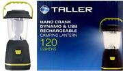 Hand Crank Dynamo And Usb Rechargeable Camping Lantern Wind Up Hanging Light 120l