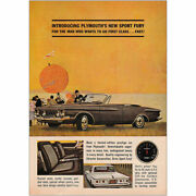 1962 Plymouth Sport Fury Man Who Wants To Go First Class Vintage Print Ad