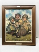 Rare Hummel Ring Around The Rosie Print Frames Board Made In Germany 20.5x24.5
