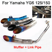 Motocycle Exhaust Muffler Connect Link Tube Pipe For Yamaha Gy6-125/150 Slip On