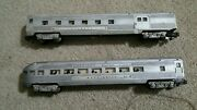 2x 1950s American Flyer Lines Silver Train Cars Washington 963 And Columbus 960