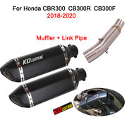 Motocycle Exhaust Pipe Muffler Connect Link Pipe For Honda Cbr300r Cb300f Cb300r