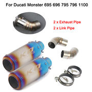 Motocycle Exhaust Muffler Mid Link Pipe For Ducati Monster 695 696 795 796 1100