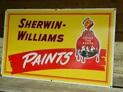 Sherwin-williams Paints - Orig. Porcelain Sign - Swp Cover The Earth - Excellent