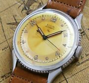 Elgin 3hands Coin Edge Original Dial Harfloater Type Vintage Watch 1950and039s