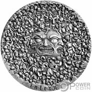 Inferno Divine Comedy 700 Anniversary 5 Oz Silver Coin 5000 Francs Cameroon 2020