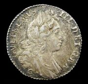 William Iii 1697 C Silver Sixpence - Chester Mint - Vf