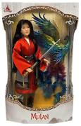 """New Disney Limited Edition Live Action Mulan Collectible 16"""" Doll With Phoenix"""