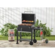 Mobile Cooker Char-griller Smoker Charcoal Food Grill Heavy Duty Bbq Black New