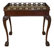50195ec Councill Craftsmen Ball And Claw Chippendale Mahogany Tea Table