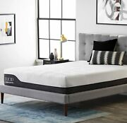 Lucid 12 Inch Queen Hybrid Mattress - Bamboo Charcoal And Aloe Vera Infused Memo