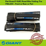 Giant Flat Guard P-slr2 Road Bike Folding Tire 700x25c - Front Or Rear Or Pair