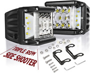 Side Shooter Led Lights Auto Power Plus 2pcs 4 Inch 90w Cube Side Shot Pods Off